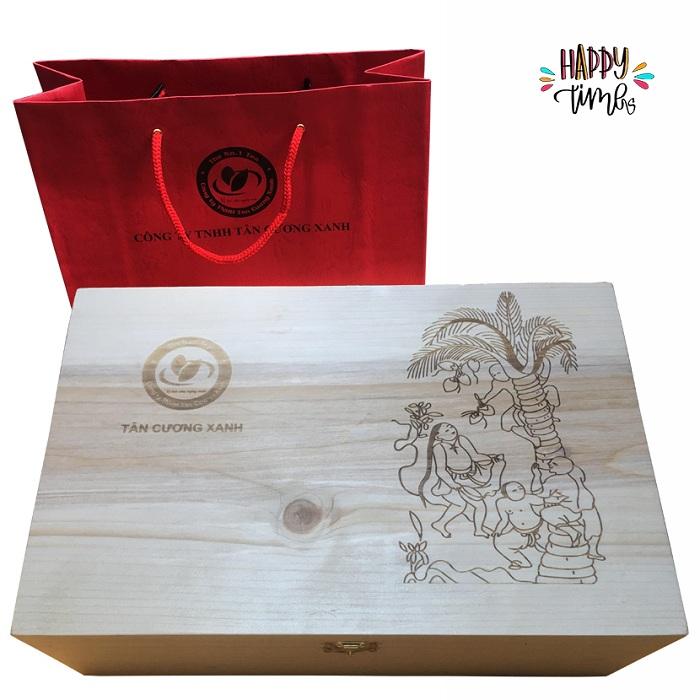 trà đinh tân cương hộp gỗ