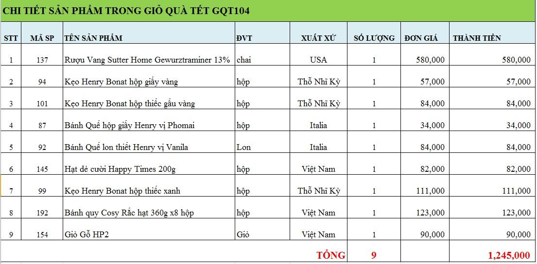 Giỏ quà tết GQT104