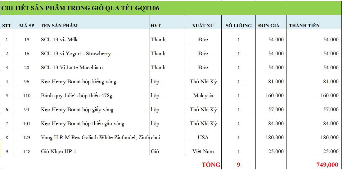 Giỏ quà tết GQT106