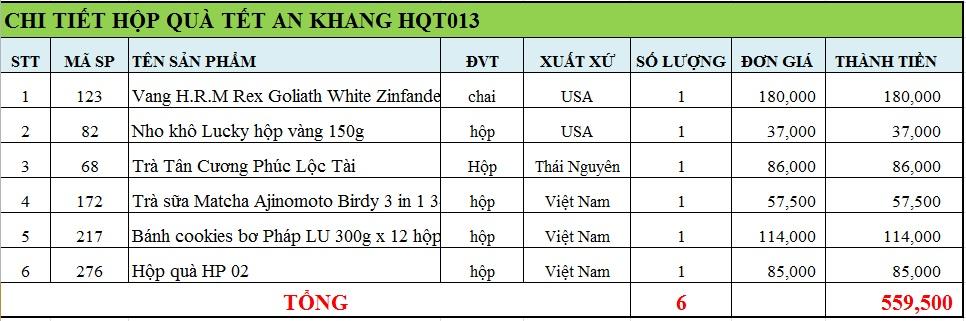 Hộp quà tết an khang HQT013